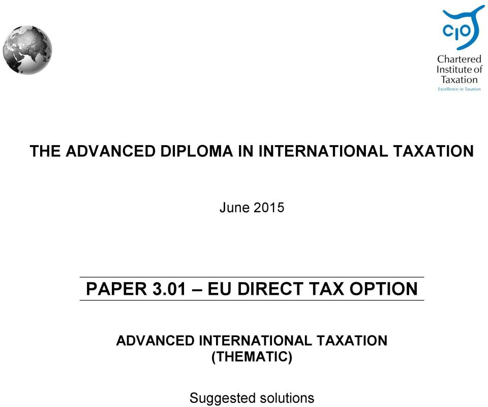 01 EU DIRECT TAX OPTION ADVANCED