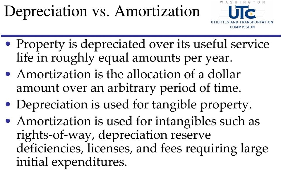 Amortization is the allocation of a dollar amount over an arbitrary period of time.