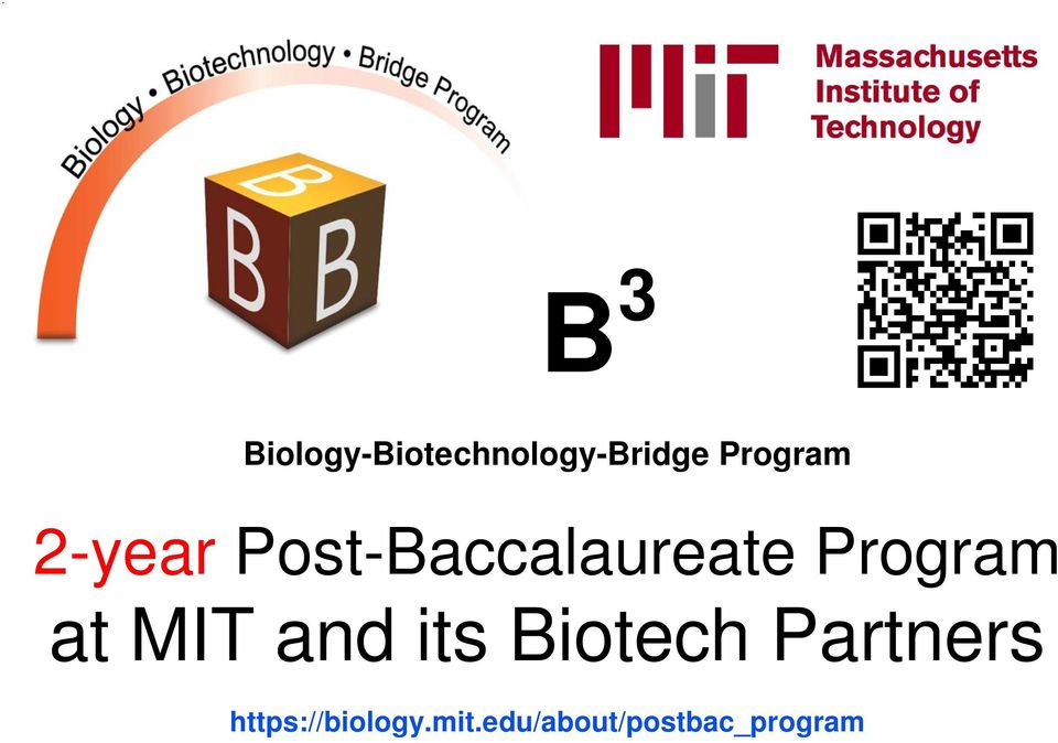 Program at MIT and its Biotech