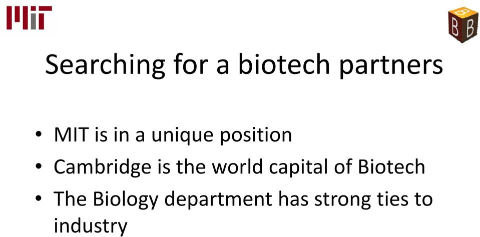 the world capital of Biotech The