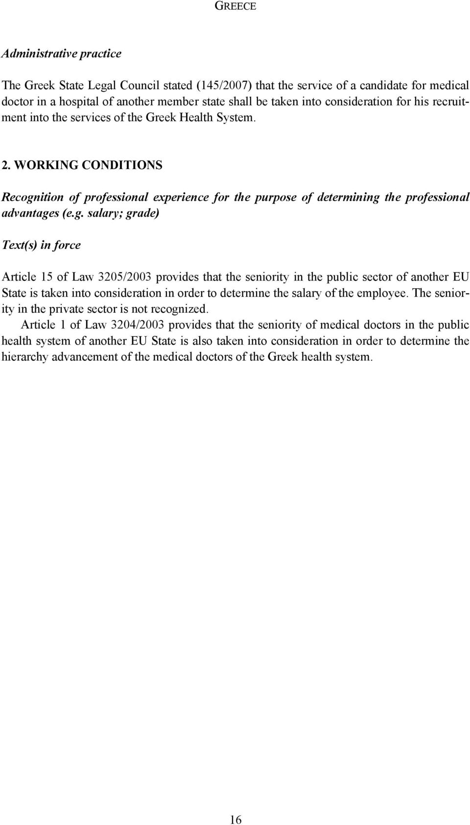 ition of professional experience for the purpose of determining