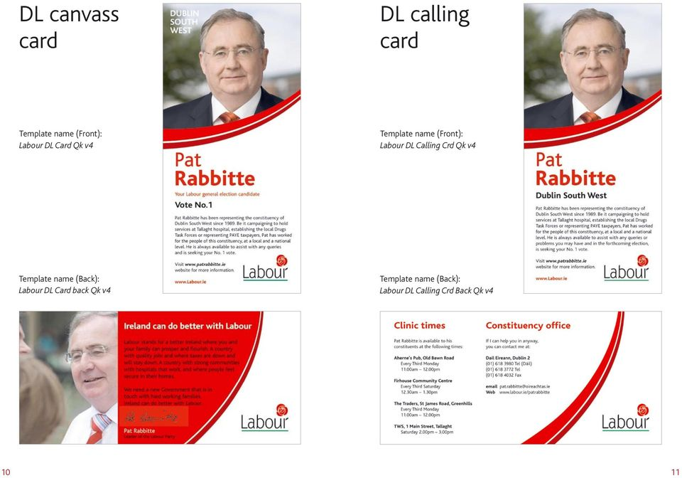Calling Crd Qk v4 Template name (Back): Labour DL Card
