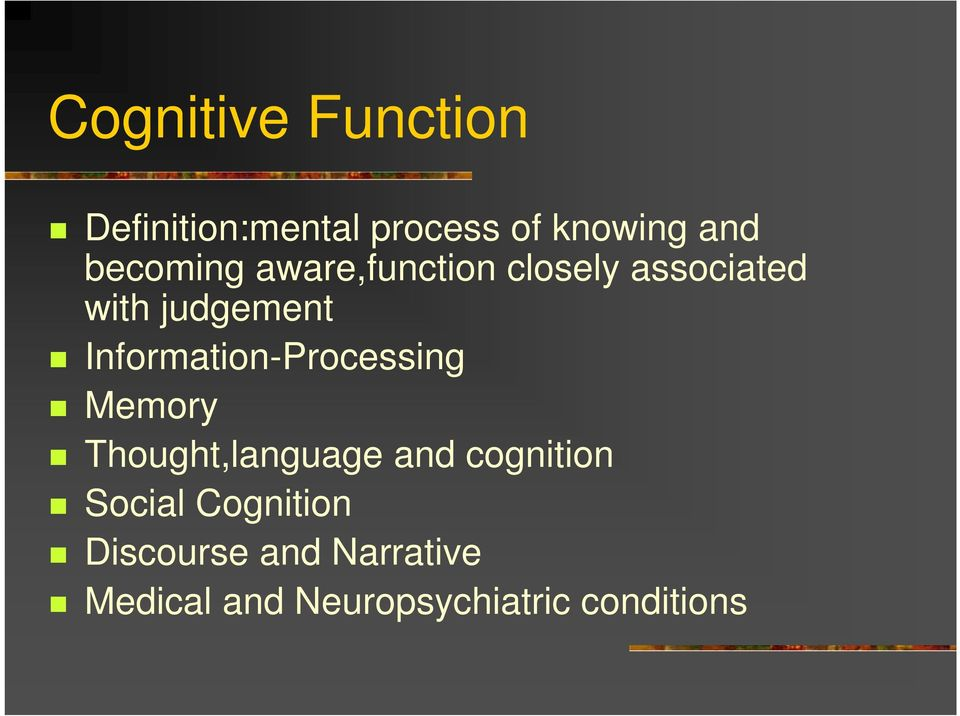Information-Processing Memory Thought,language and cognition