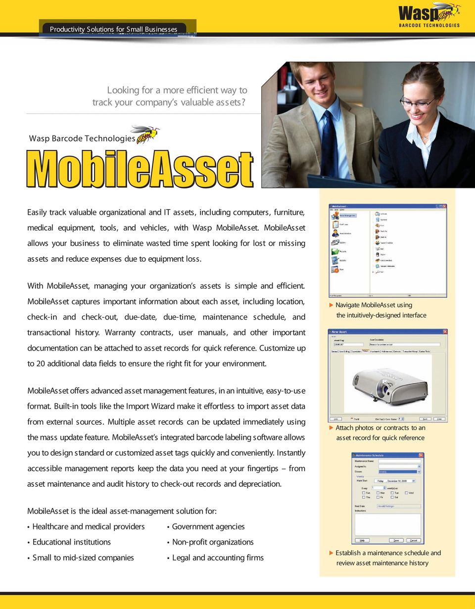MobileAsset allows your business to eliminate wasted time spent looking for lost or missing assets and reduce expenses due to equipment loss.