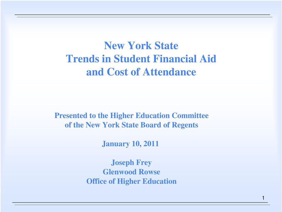 Committee of the New York State Board of Regents January