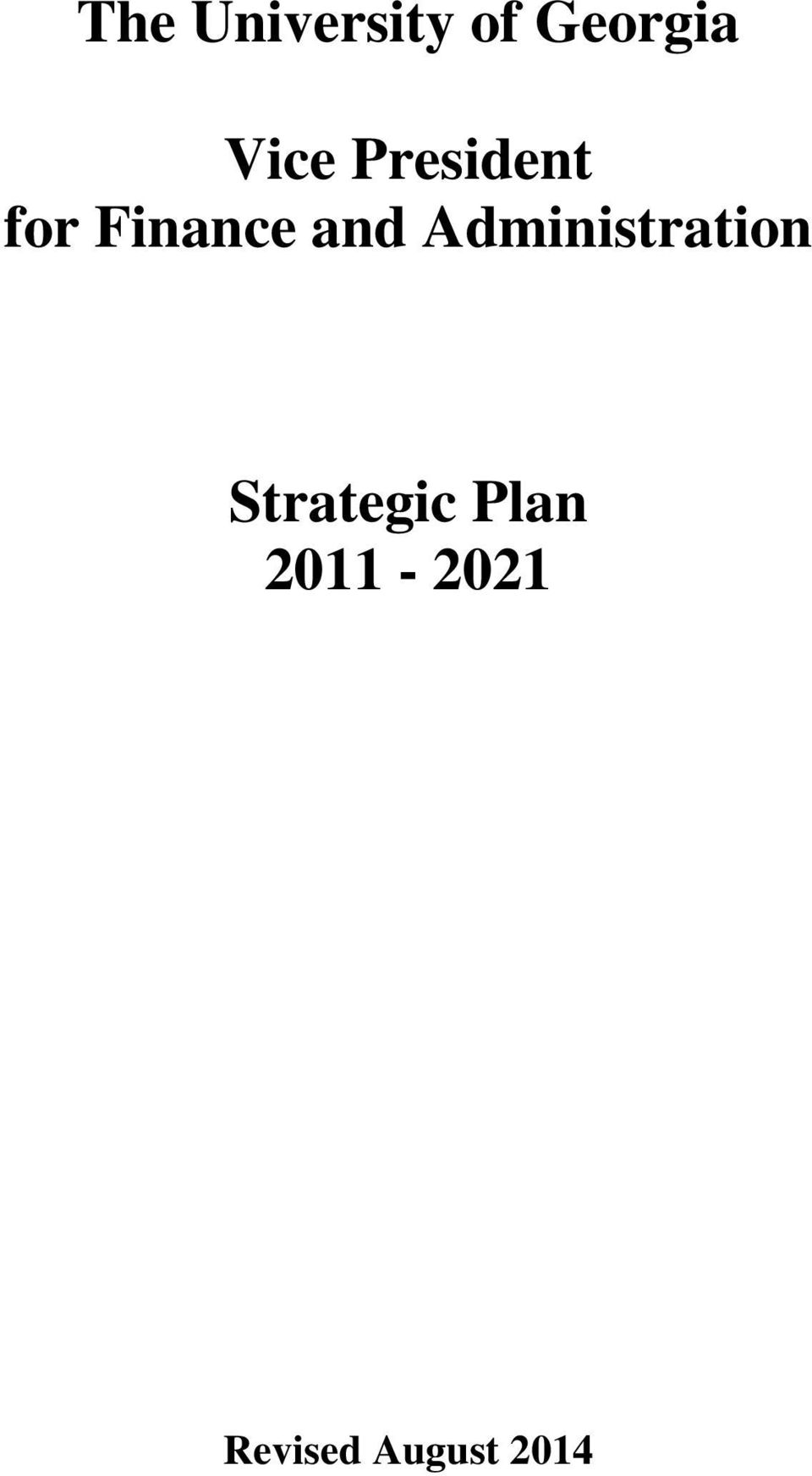 and Administration Strategic
