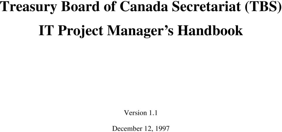 Project Manager s