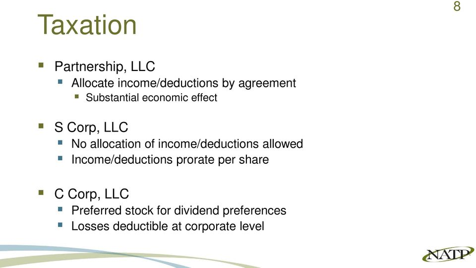 income/deductions allowed Income/deductions prorate per share C