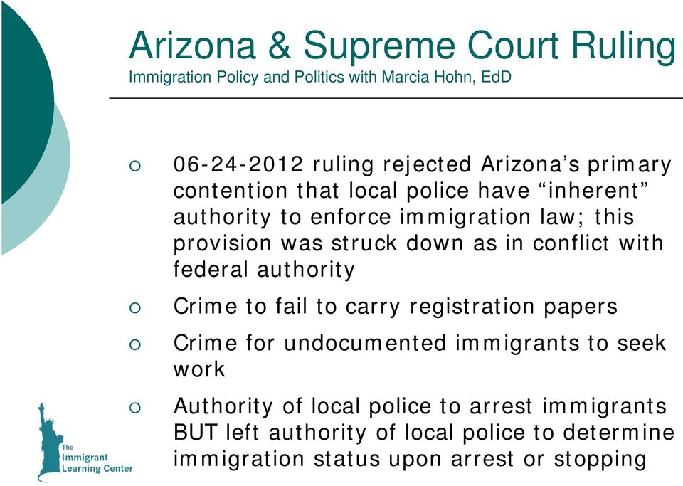 authority Crime to fail to carry registration papers Crime for undocumented immigrants to seek work Authority of