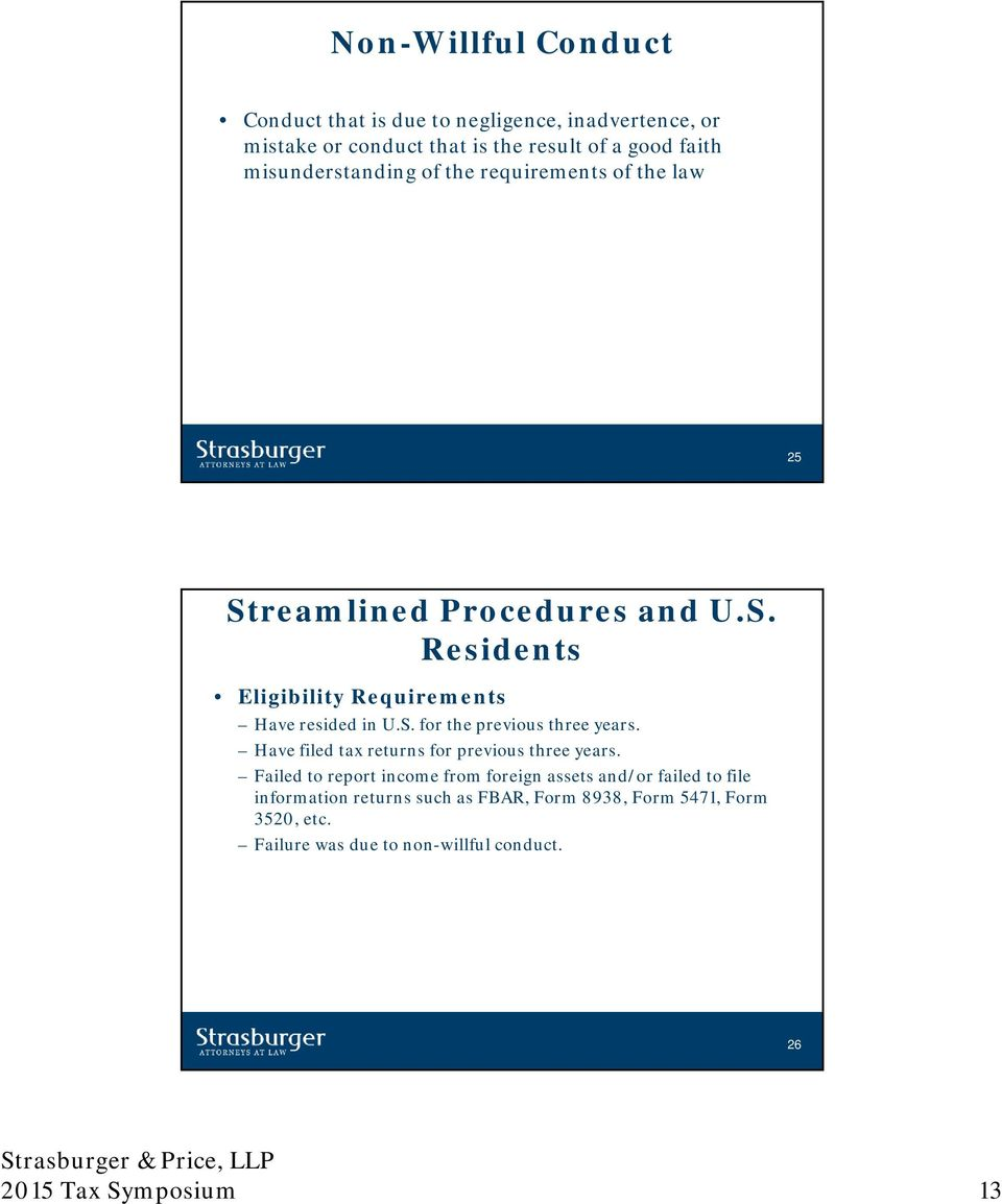 Handling IRS Targeted Audits, Voluntary Disclosures and Reporting ...