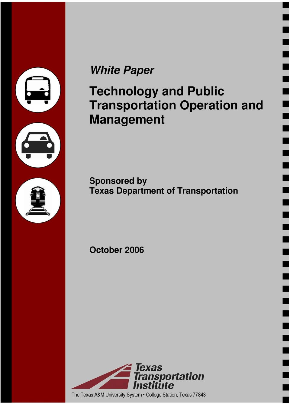 Department of Transportation October 2006 The