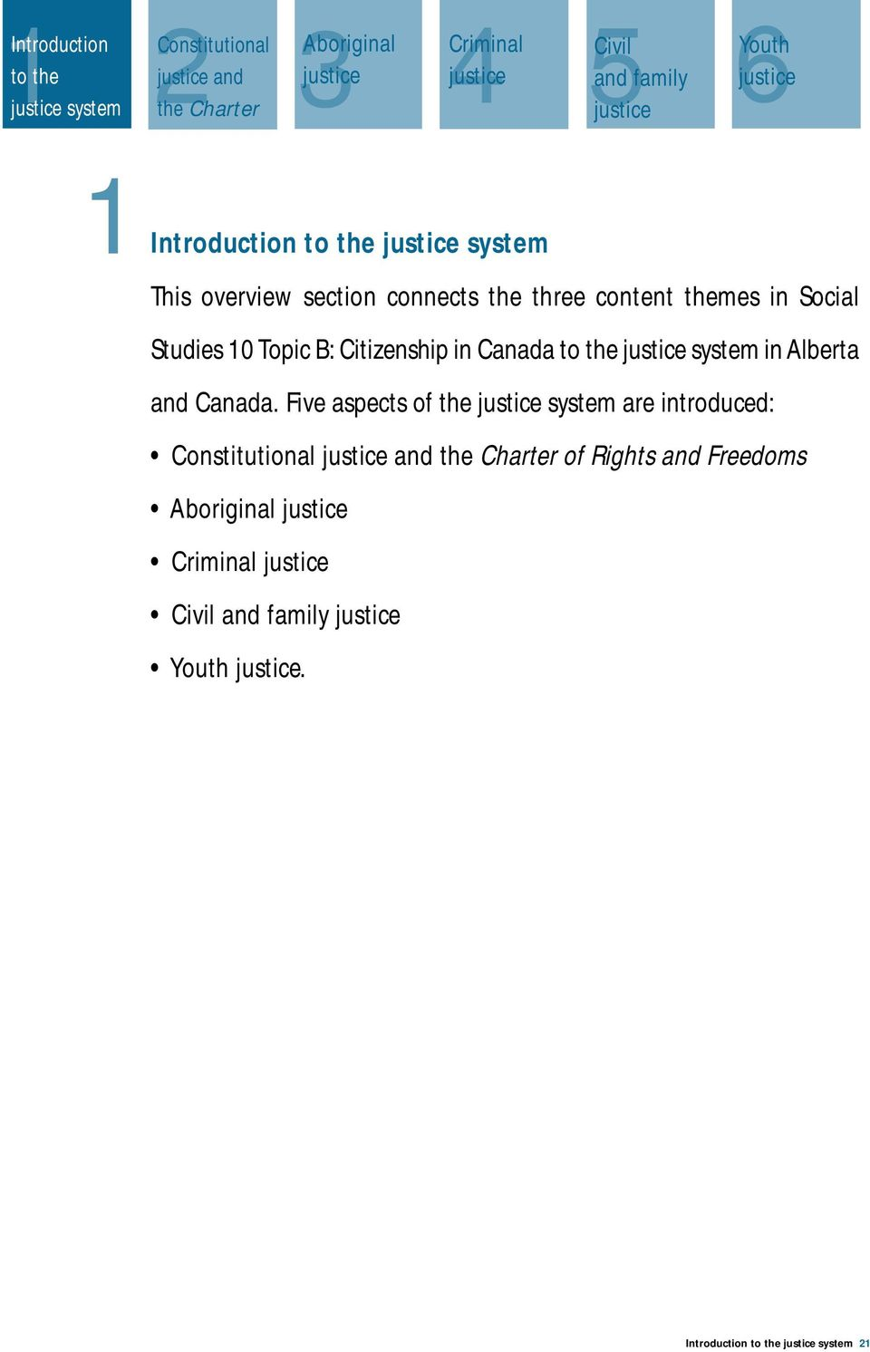 Citizenship in Canada to the justice system in Alberta and Canada.