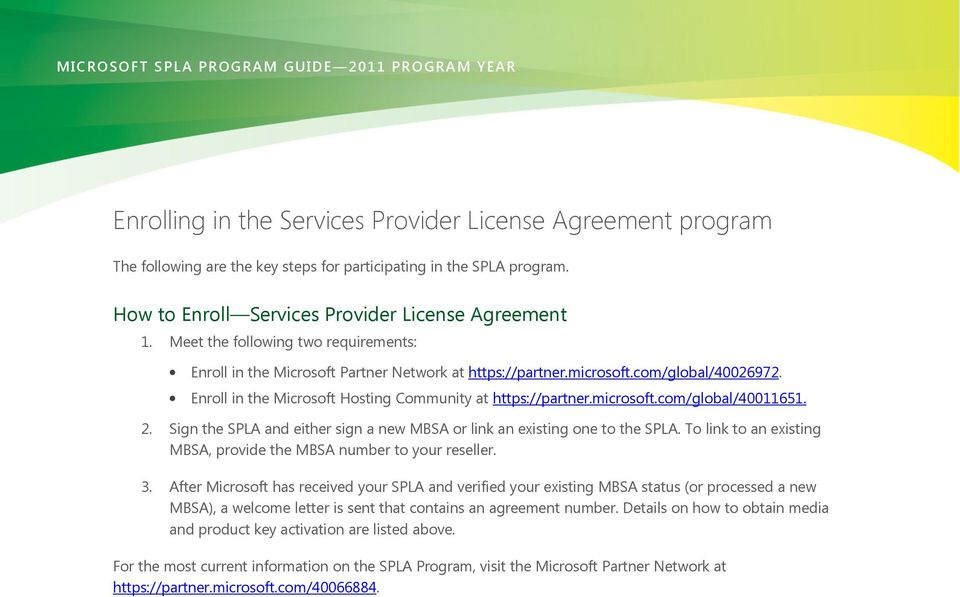 Microsoft Services Provider License Agreement Program Pdf
