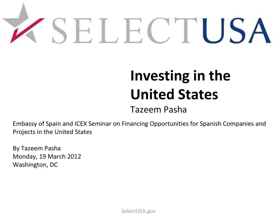 forspanish Companies and Projects in the United States