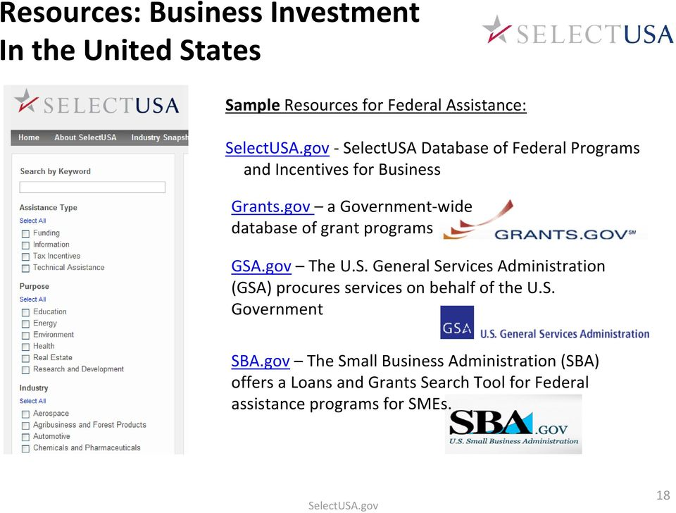 gov a Government-wide database of grant programs GSA