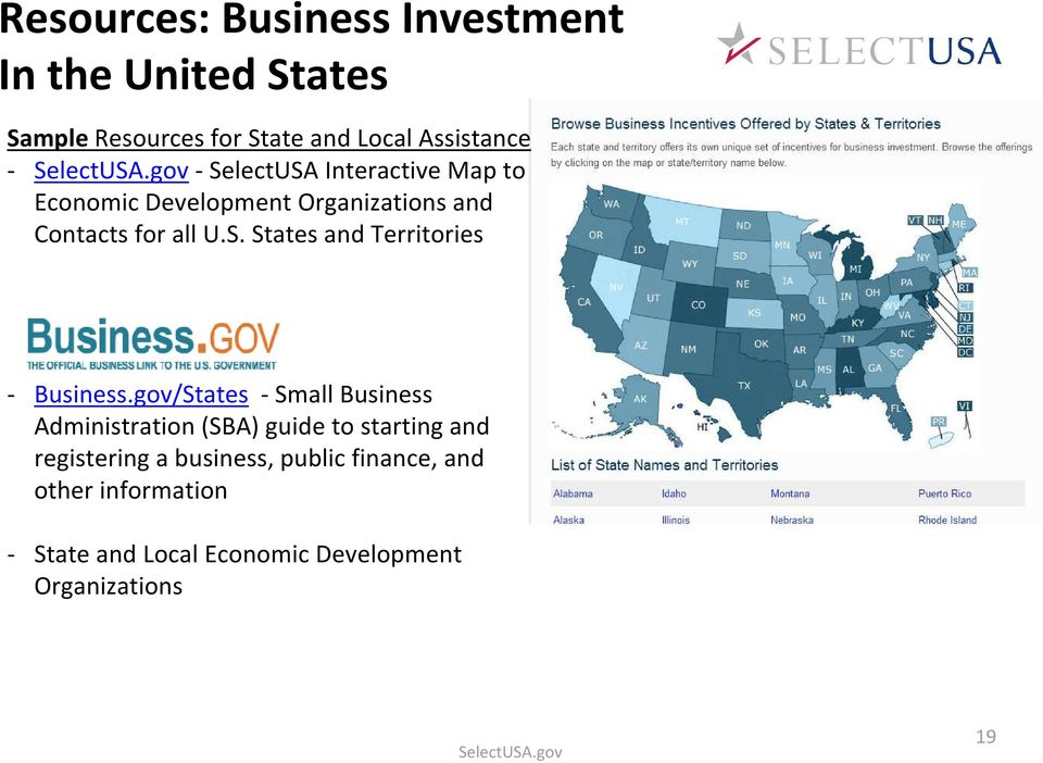 gov/States -Small Business Administration (SBA) guide to starting and registering a business, public finance,