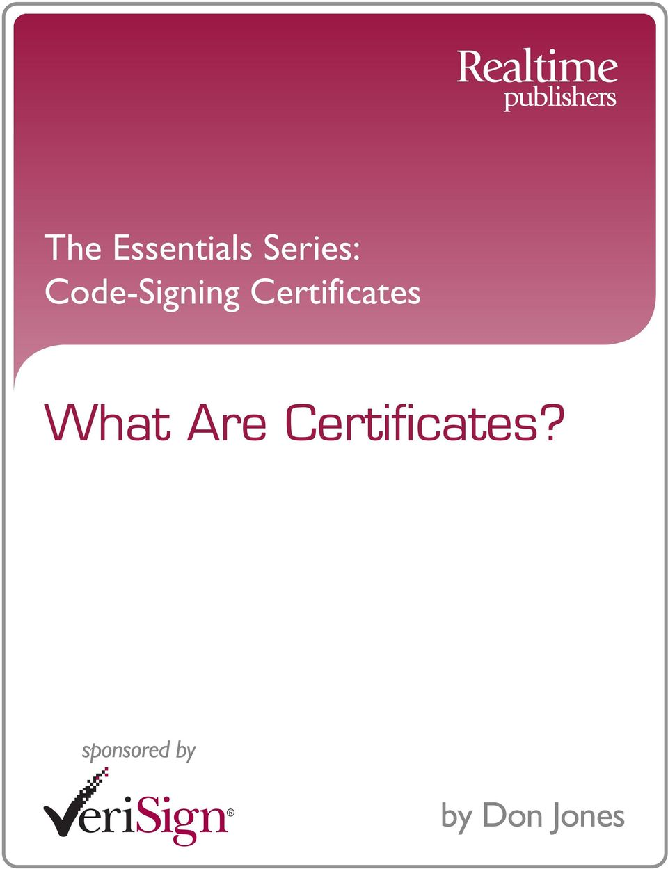 Certificates What Are