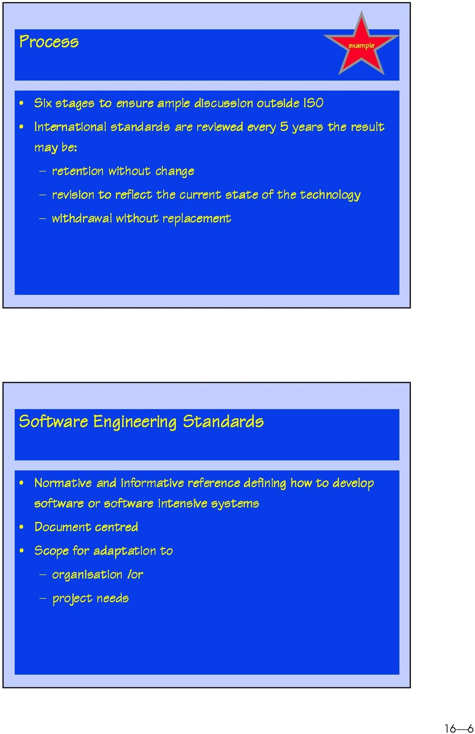 withdrawal without replacement Software Engineering Standards Normative and informative reference defining how to