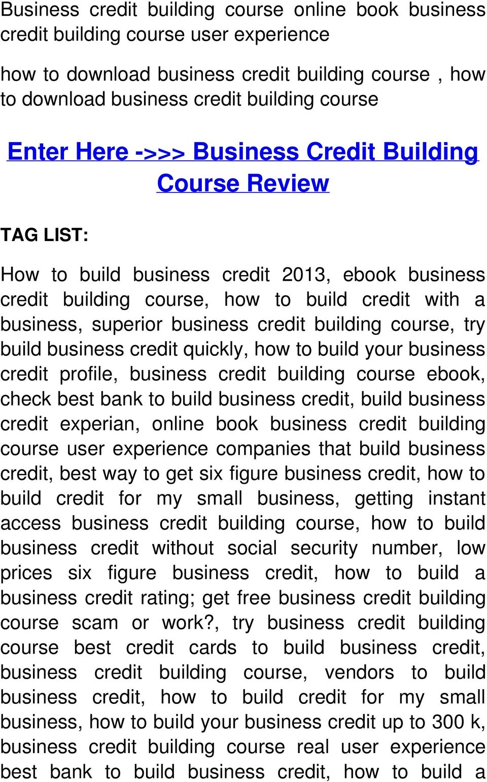 course, try build business credit quickly, how to build your business credit profile, business credit building course ebook, check best bank to build business credit, build business credit experian,