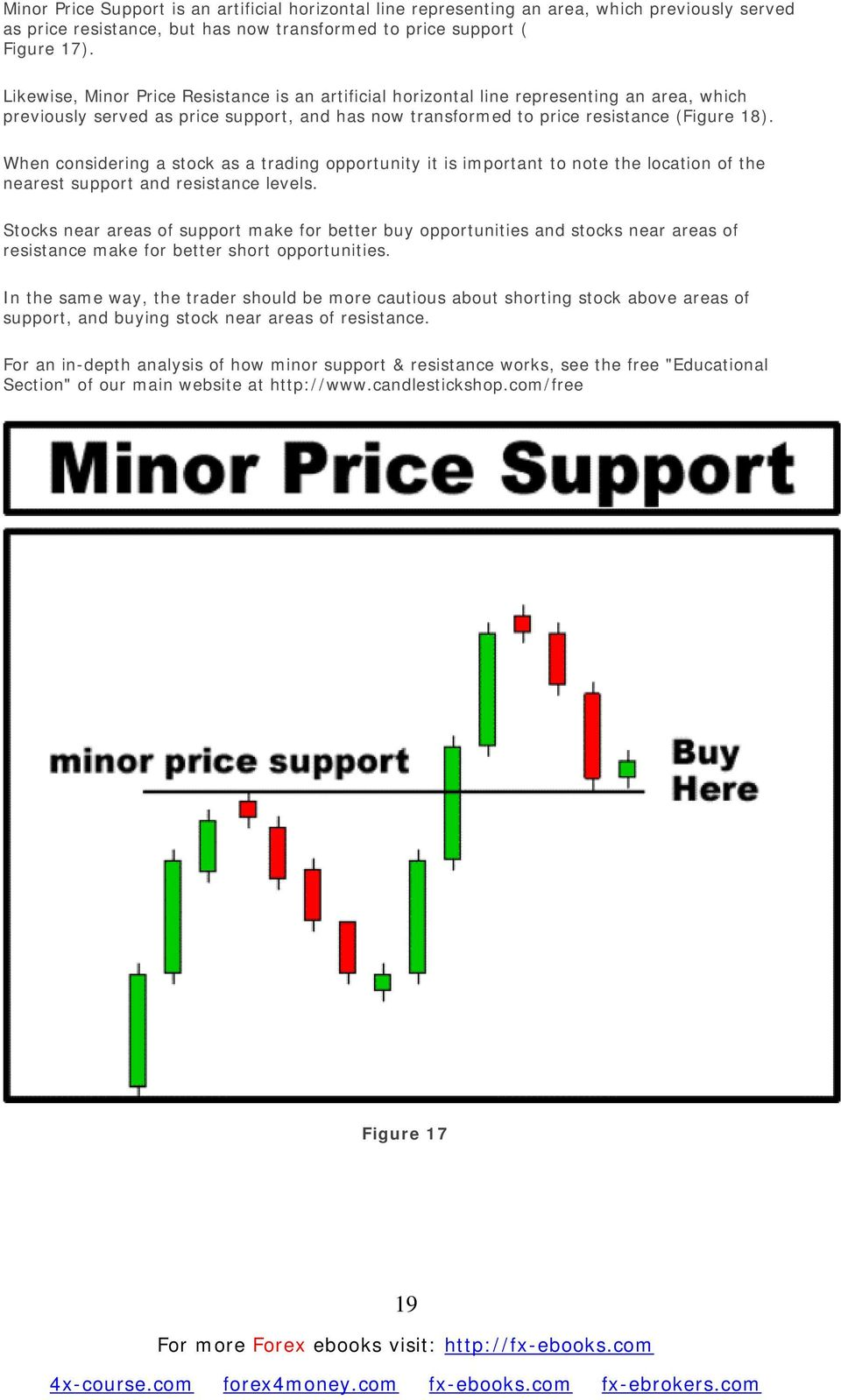 When considering a stock as a trading opportunity it is important to note the location of the nearest support and resistance levels.