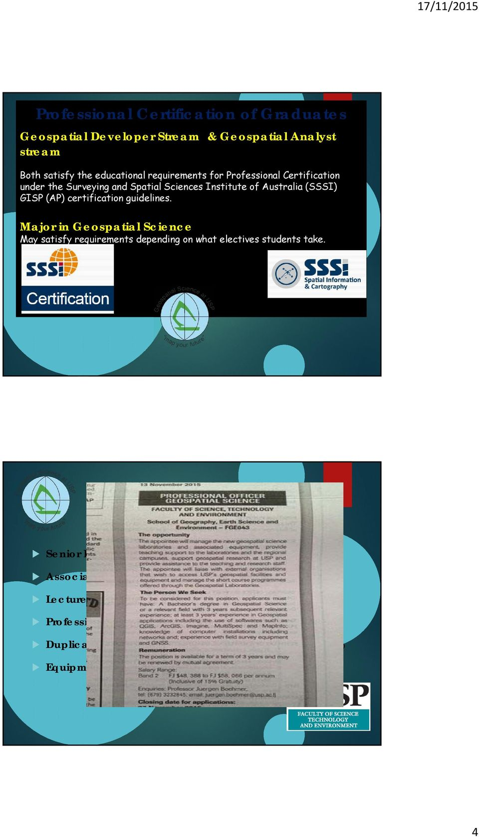Sciences Institute of Semester Australia 2 (SSSI) GISP UU200 (AP) Ethics certification and Governance guidelines.