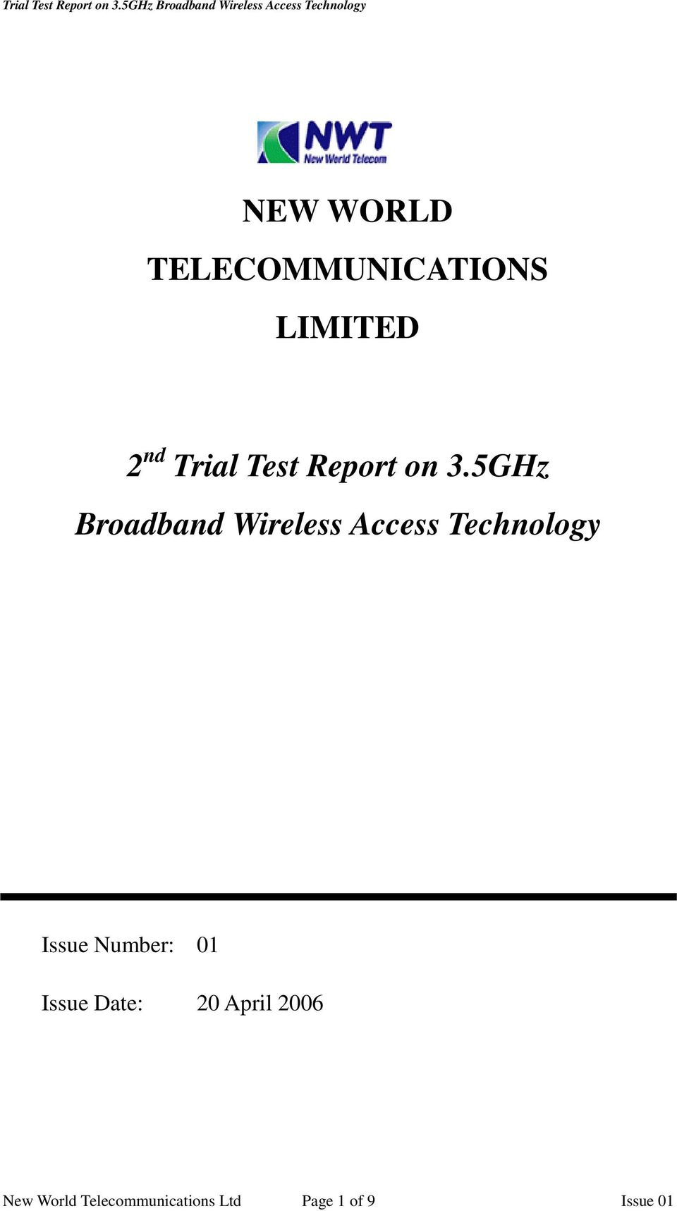 5GHz Broadband Wireless Access Technology Issue