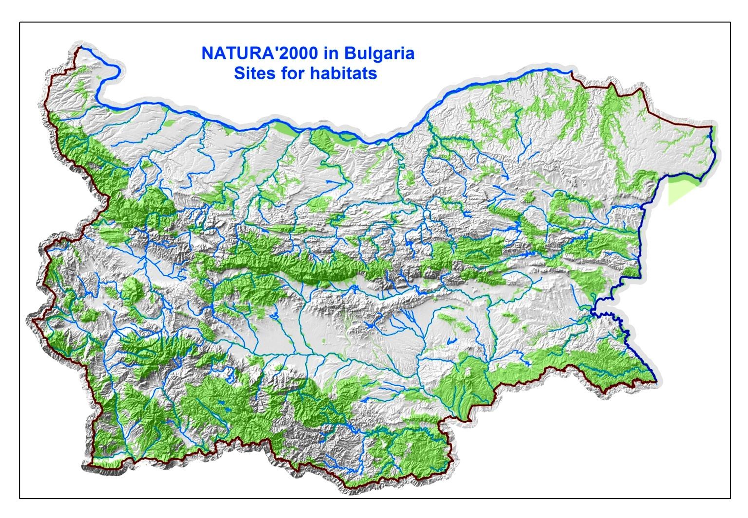 Three NATURA 2000 sites (Srebarna Lake, Upper Mesta River and