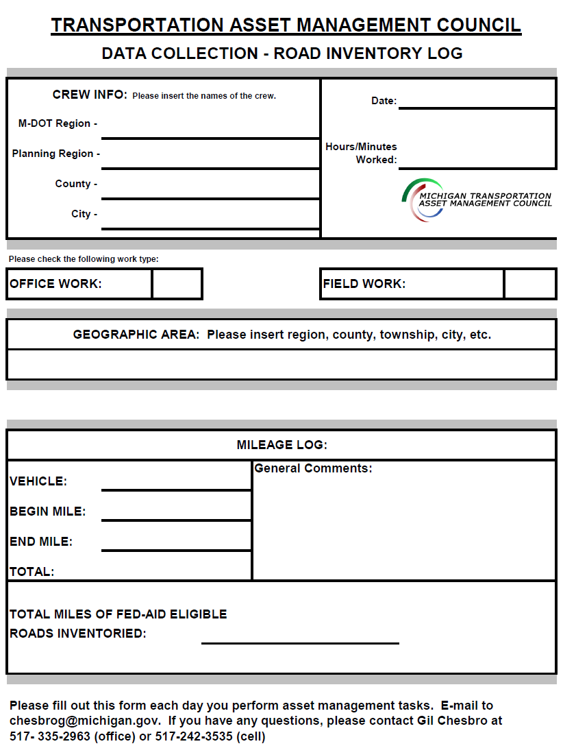 This form is an example; please obtain
