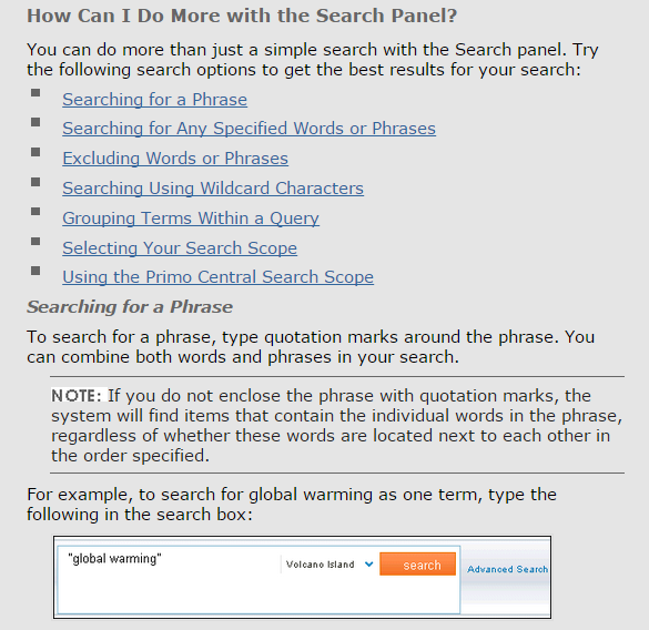 Novanet also supports phrase searching and Boolean operators.