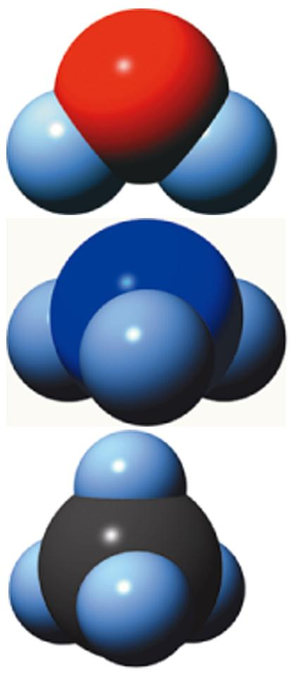 VSEPR theory All of these Lewis structures have four electron domains on the central atom they have tetrahedral electron domain geometries In many cases, at least one of the VSEPR electron groups on