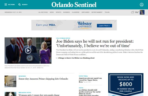 ADDITIONAL DIGITAL OPTIONS OrlandoSentinel.com OrlandoSentinel.com has a long tradition of providing the news Central Floridians want, when it happens.