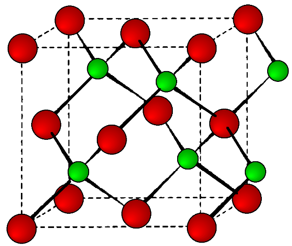 Crystal Structure of Si (IV elements) The diamond cubic structure consists of two interpenetrating face-centered cubic lattices, with one offset 1 / 4 of a cube along the cube diagonal.