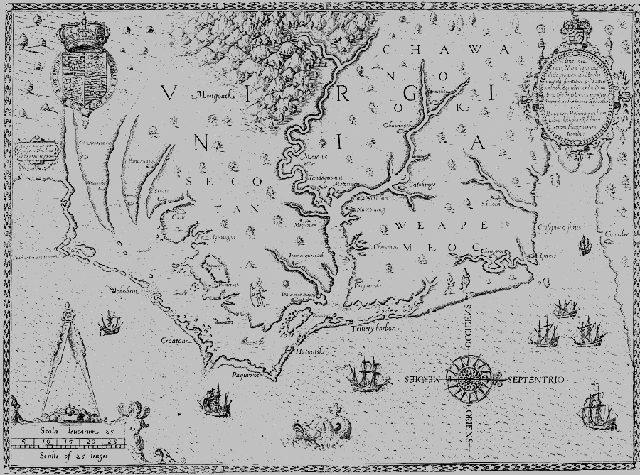 White and his men decided to sail to an island where the Croatoans lived to search there. Heavy storm winds blew the ships eastward.