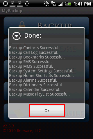 "8) Name the backup set or leave the default name of ""LastBackup""."
