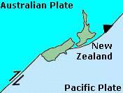 Alpine fault in New Zealand, which forms the