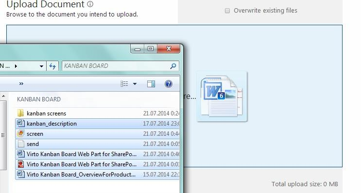 16 Selected files will be added for uploading. Here you can use Remove opposite files which you decided not to upload.