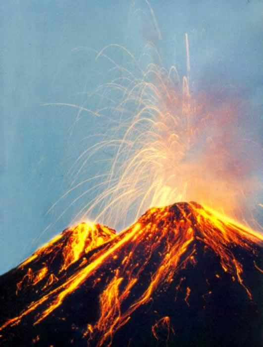 Volcanic Eruptions Volcano: an opening in the Earth s crust through which steam,