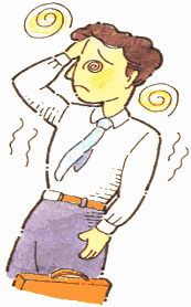 Heat Syncope (fainting) Symptoms: Dizziness, lightheaded and maybe nauseous, then the person may faint.