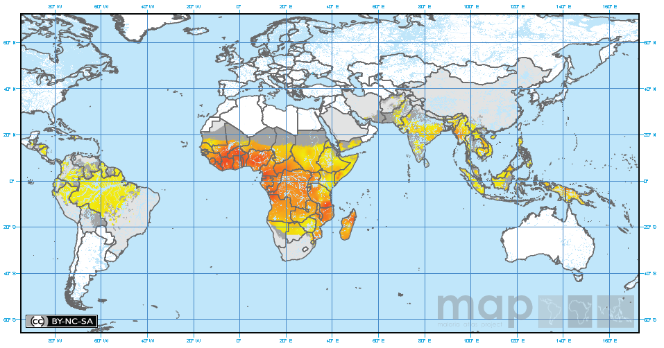 Current maps of malaria incidence