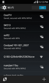 3. Tap the Wi-Fi slider to turn Wi-Fi on. Wi-Fi is enabled. You will see the names and security settings of in-range Wi-Fi networks. To disable Wi-Fi, tap the slider again. 4.