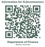 Government of Western Australia Department of Finance Subcontracting in the