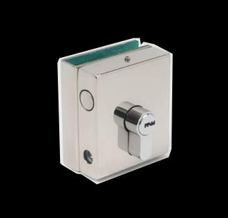 US629 Latch & GK629 Strike Latch with key cylinder Suitable for 8-12mm glass panels.