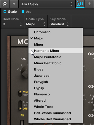 Basic Concepts Controlling Parameters via MIDI and Host Automation Click the corresponding menu with your computer mouse and select an entry.