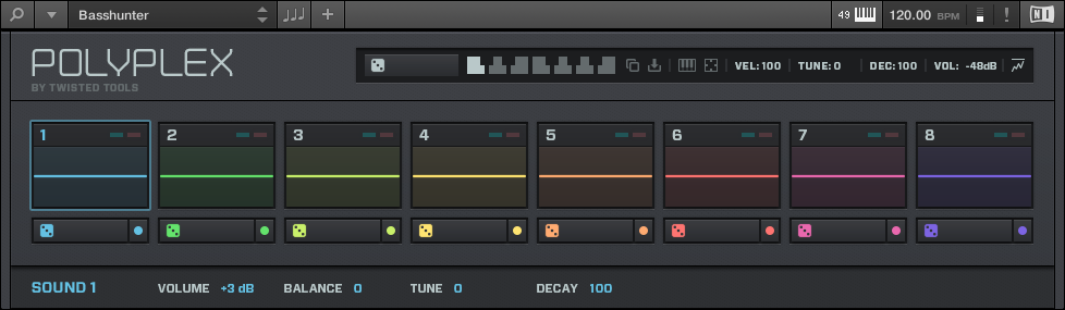 KOMPLETE KONTROL Software Overview Instrument Area 4.4.1 Default View The default view is the view that first appears when you load an instrument from the browser.