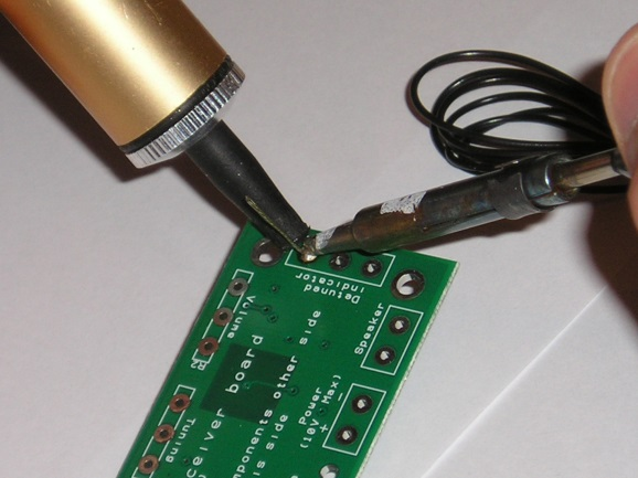 Sound Meter Teaching Resources Soldering in Ten Steps 1. Start with the smallest components working up to the taller components, soldering any interconnecting wires last. 2.