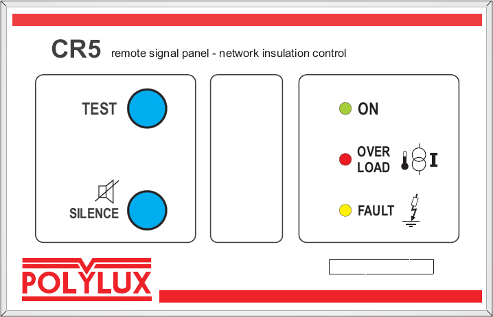 4 / 8 3- REPEATER PANEL CR5: 3.1- Functions: Signalling of insulation faults or network overloads.