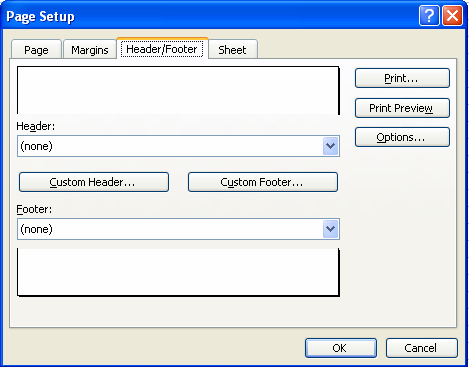 If you need to make changes to your worksheet before printing, click on the Close button to return to your workbook.