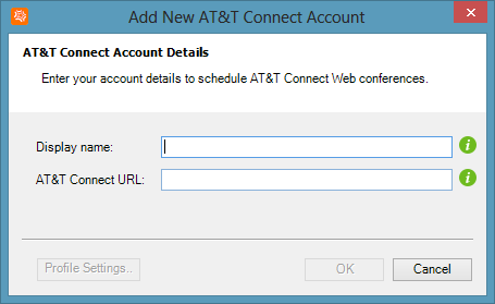 Creating and managing your AT&T Connect web accounts 3.