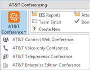 Scheduling an AT&T Connect web conference To set desktop alerts: 1. Open the Account Settings window as described in Manually creating a web account (see page 9). 2.