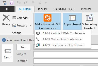 Converting a scheduled meeting into a web conference 2. Under Conference Settings, select the desired characteristics for the selected conference type and click Save.
